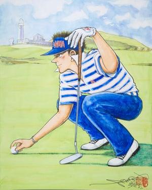 A piece of the 'golfing manga' subgenre' by Chiba Tetsuya.
