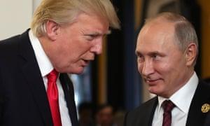 Trump and Putin at the Apec summit in Vietnam, 11 November