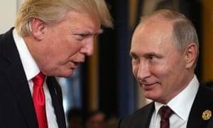 Trump and Putin at the Apec summit in Vietnam this week.