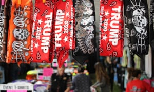 Trump bandanas for sale at Laconia, New Hampshire's annual bike week.