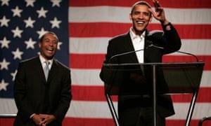 Deval Patrick with Barack Obama in November 2006.