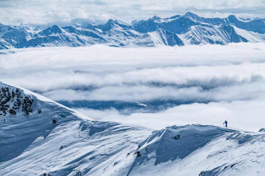 Films Laax Falera Ski Resort in Switzerland.