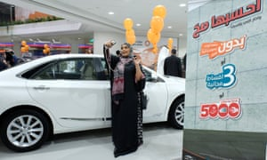 Saudi Arabia holds first women-only car show | World news | The Guardian