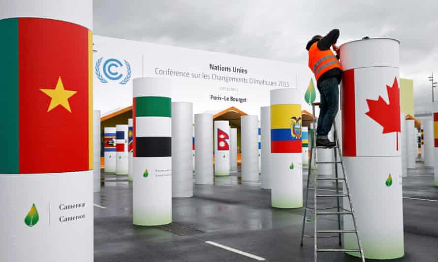 Preparations for the upcoming COP21 climate summit t Le Bourget, near Paris, France