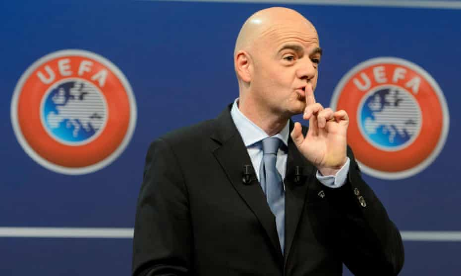 Gianni Infantino was Uefa's head when a settlement with Manchester City was struck in 2014.