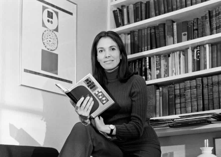 Joan Bakewell with her book The New Priesthood, 1970.