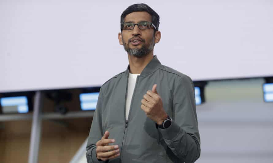 Sundar Pinchai has presided over a 27% increase in Alphabet's share price in 12 months.