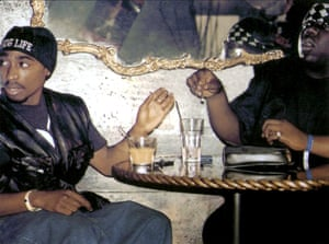 Tupac Shakur and the Notorious BIG, subject of Slate's Slow Burn: Tupac and Biggie.