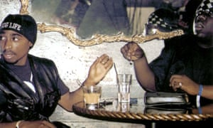 Tupac Shakur, left, and Notorious BIG in Biggie & Tupac (2002). Photograph: Allstar/Lions Gate Films