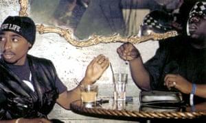 Hip-hop heavyweights Tupac Shakur, left, and Biggie Smalls in Nick Broomfield's 2002 film Biggie and Tupac