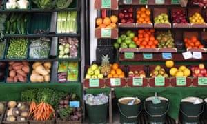 Fruit and veg.