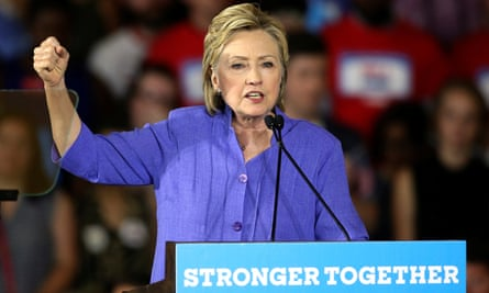 Democratic U.S. presidential candidate Hillary Clinton speaks at a campaign rally in Cincinnati