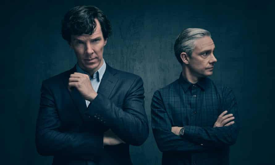 Cumberbatch and Freeman as Holmes and Watson.