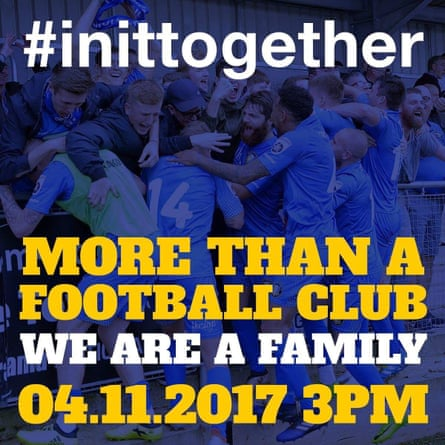 Gainsborough Trinity's club poster ahead of their first round tie on Saturday