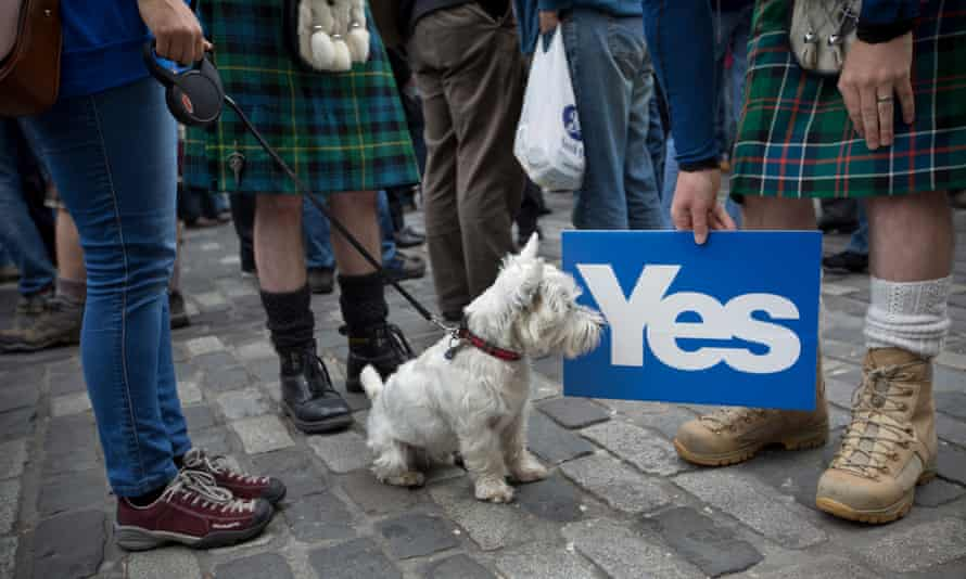 Scottish independence rally in September 2013