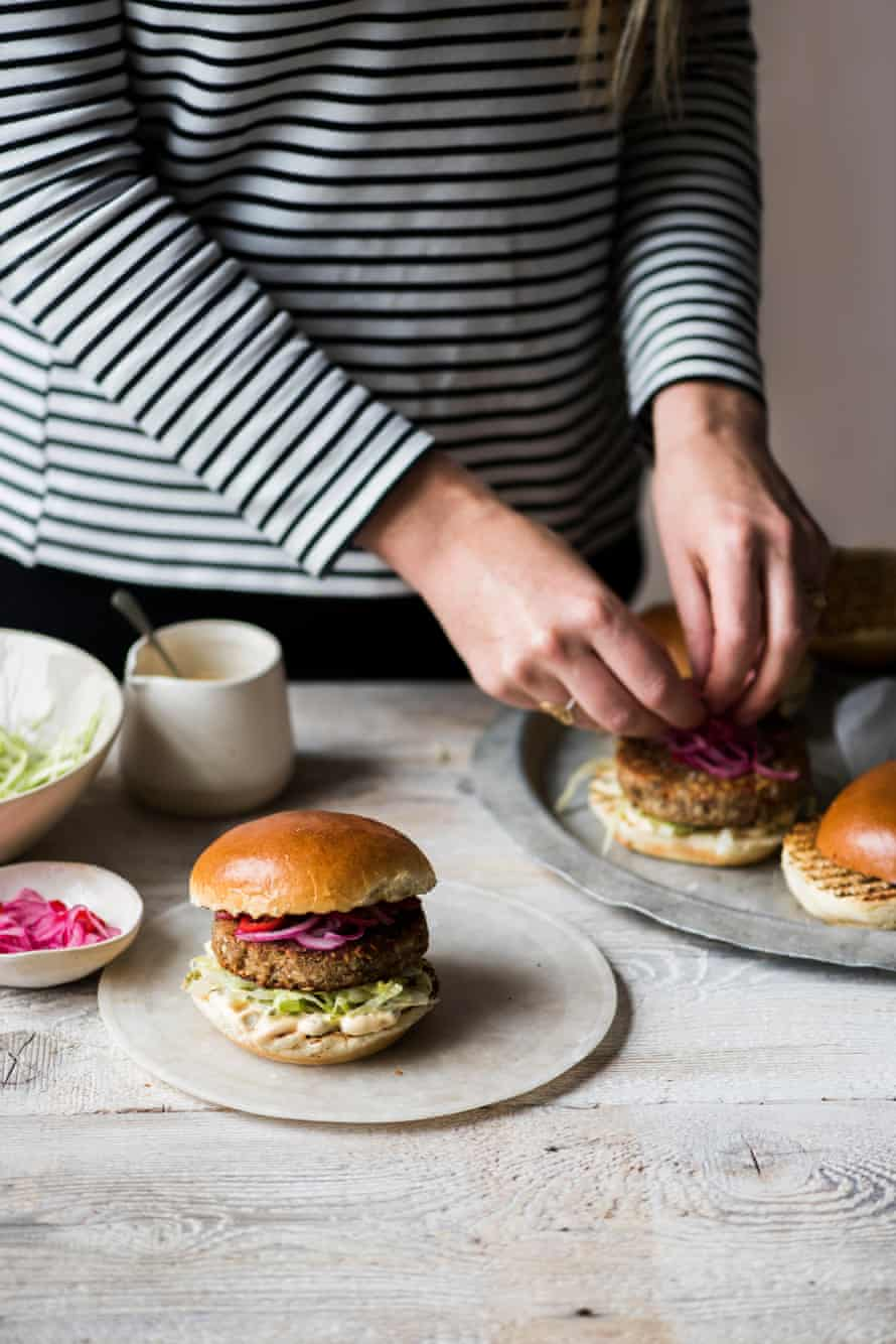 Cashew and chestnut burgers