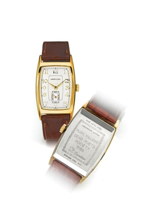 The sale includes more than 40 wristwatches from Williams' personal collection, including this, which the actor wore in 1989 film Dead Poets Society