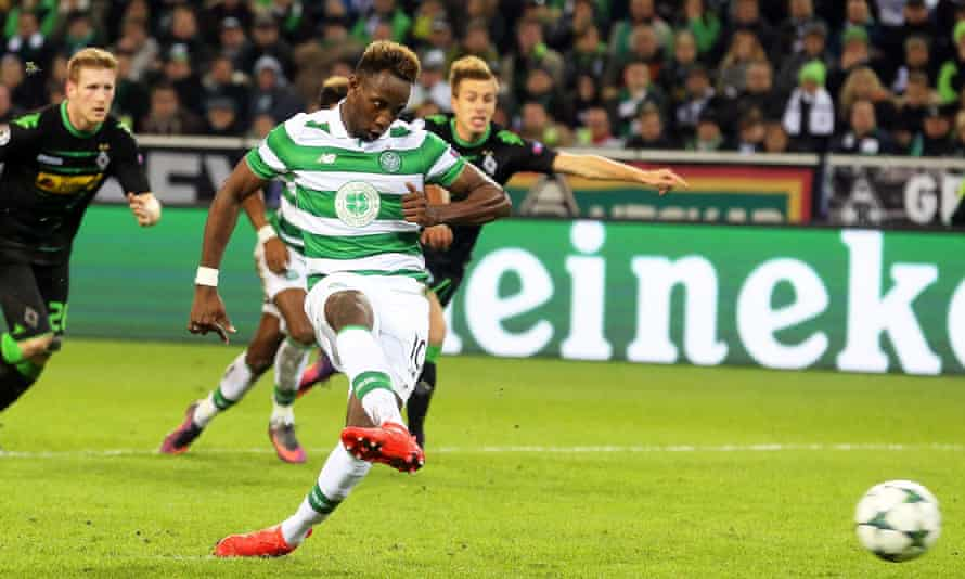 Moussa Dembéle slots away the penalty-kick he won himself to keep alive Celtic's slims hopes of qualification from Champions League Group C.