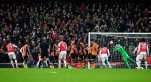 Hull City goalkeeper Eldin Jakupovic denies Arsenal yet again.
