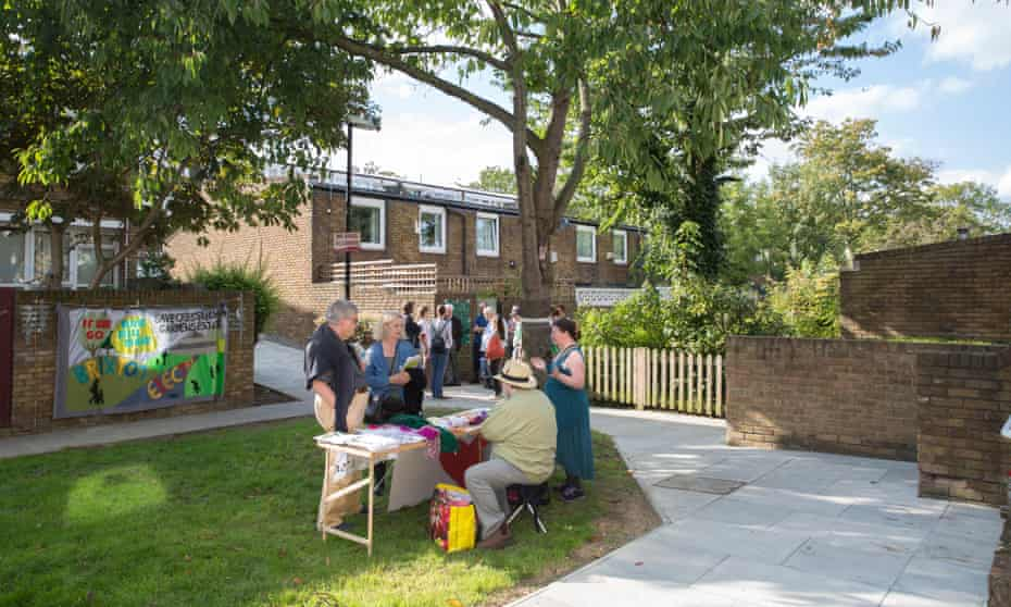 The power of self-organising … Cressingham Gardens estate during Lambeth Open House weekend, 2017.