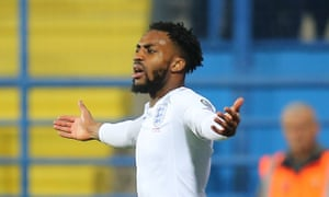 Danny Rose remonstrates during England's 5-1 win in Montenegro