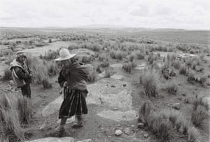 Martha, 47, and her son Limbert, 10, on the altiplano