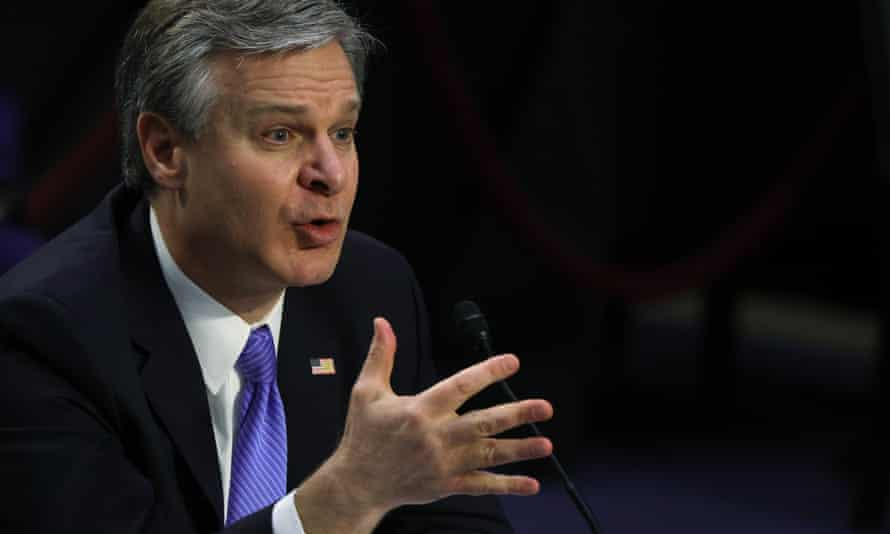 The FBI director, Christopher Wray, has said the threat from domestic violent extremism was 'metastasizing' in the country.