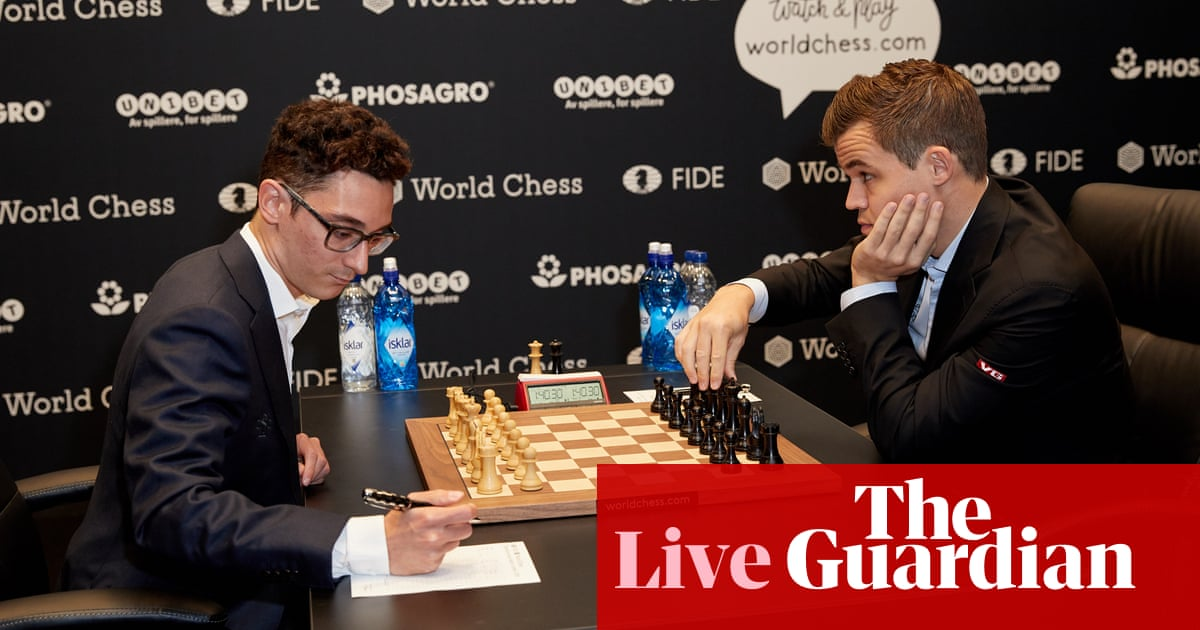 Magnus Carlsen v Fabiano Caruana: World Chess Championship, Game 1 – live!