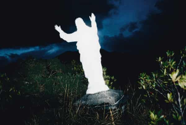 The statue of Jesus: Clifden, Connemara, from the series Beyond Maps and Atlases.