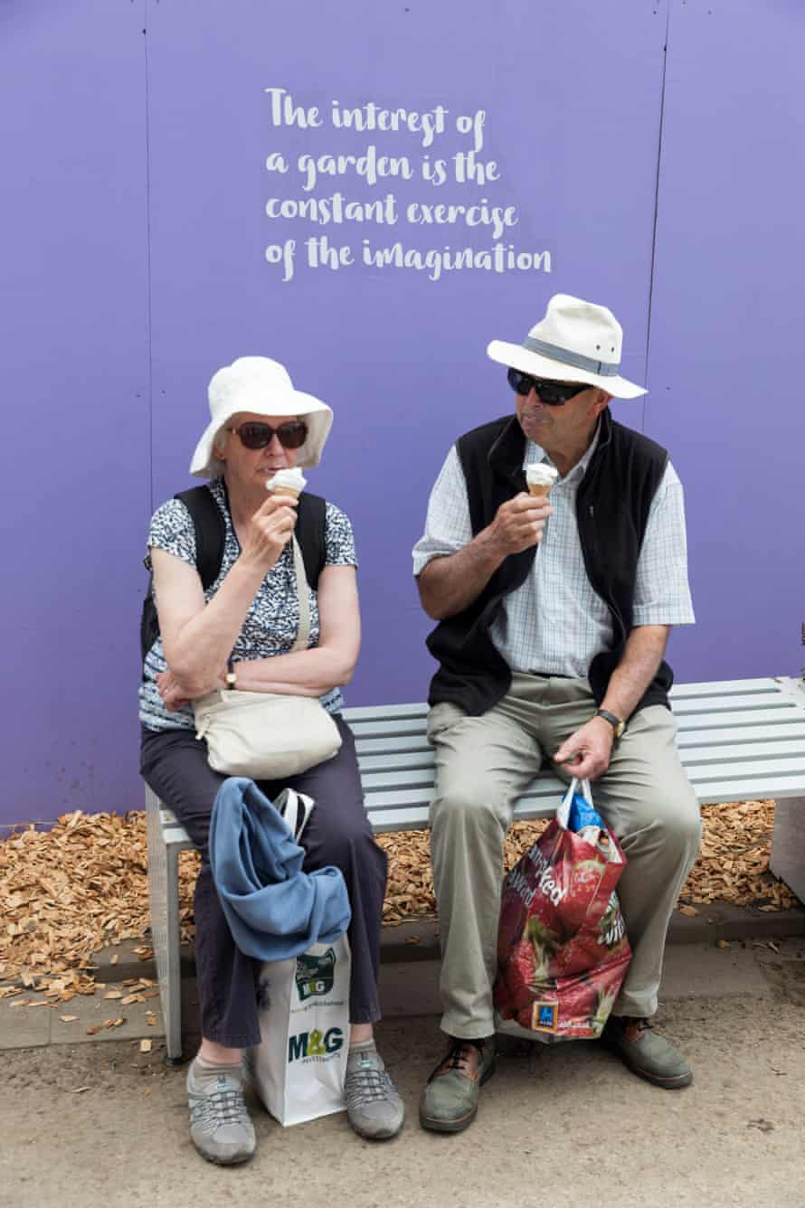 A couple eat ice cream