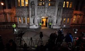 Media wait outside supreme court