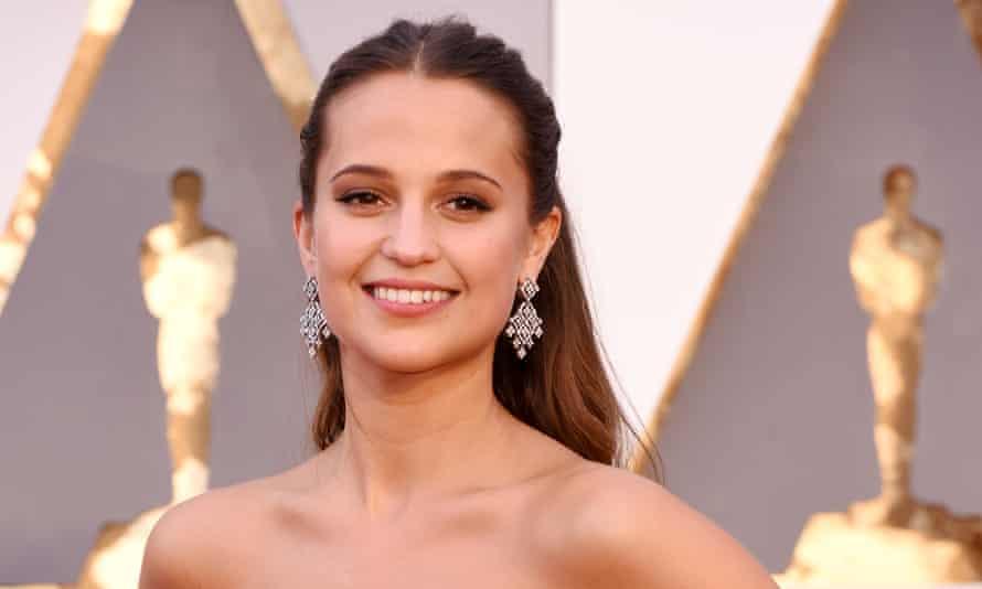 Alicia Vikander at the Oscars: ready to take on Tomb Raider.