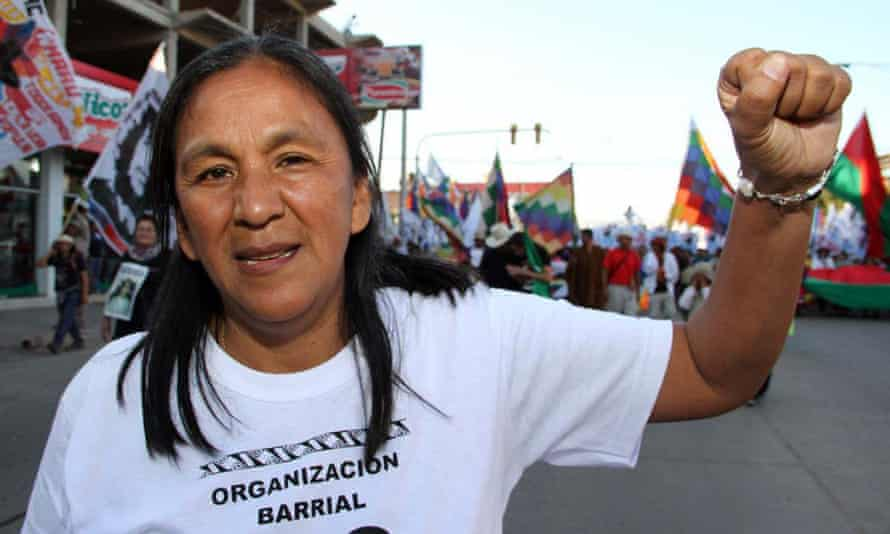 Milagro Sala was arrested last month on charges of fraud, extortion and illicit association.