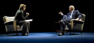 Michael Sheen and Frank Langella in Frost/Nixon at the Donmar, London, in 2006.