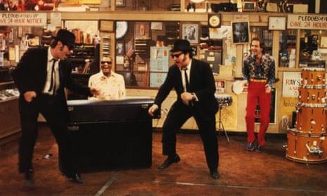 Belushi and Dan Aykroyd in The Blues Brothers, 1980.