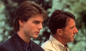 Tom Cruise and Dustin Hoffman as Charlie and Raymond Babbitt in Rain Man.