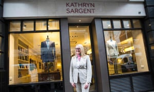 Sargent outside her central London store.