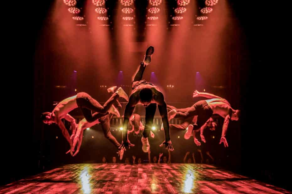 Dancers in the air during a previous production of Magic Mike Live.