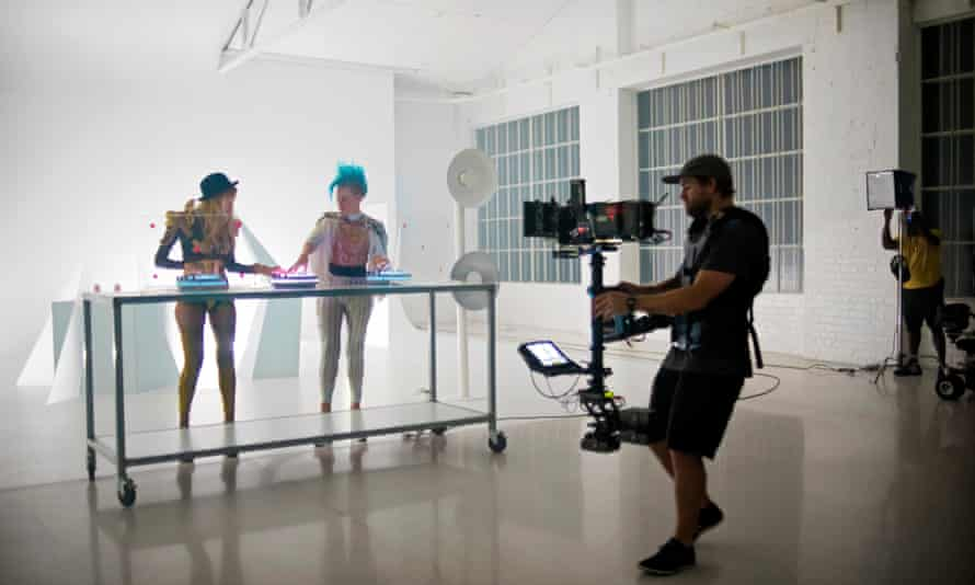 Behind the scenes at Nervo's video for People Grinnin'