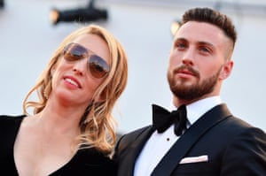 Sam and Aaron Taylor-Johnson at the premiere of Nocturnal Animals during the 2016 Venice film festival.