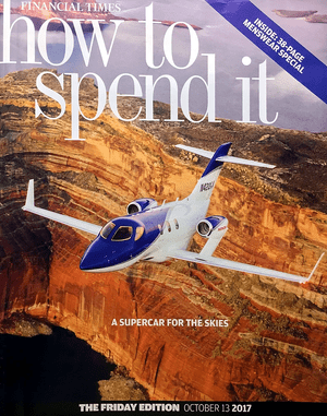 The cover of the 13 October 2017 edition of the FT's How to Spend It magazine.