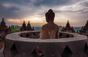 Shortlisted Buddha of Borobudur in Java, Indonesia, by Sirsendu Gayen