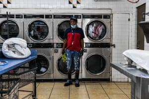 Miami, US : Gregory Stark, 54, laundry shop employee