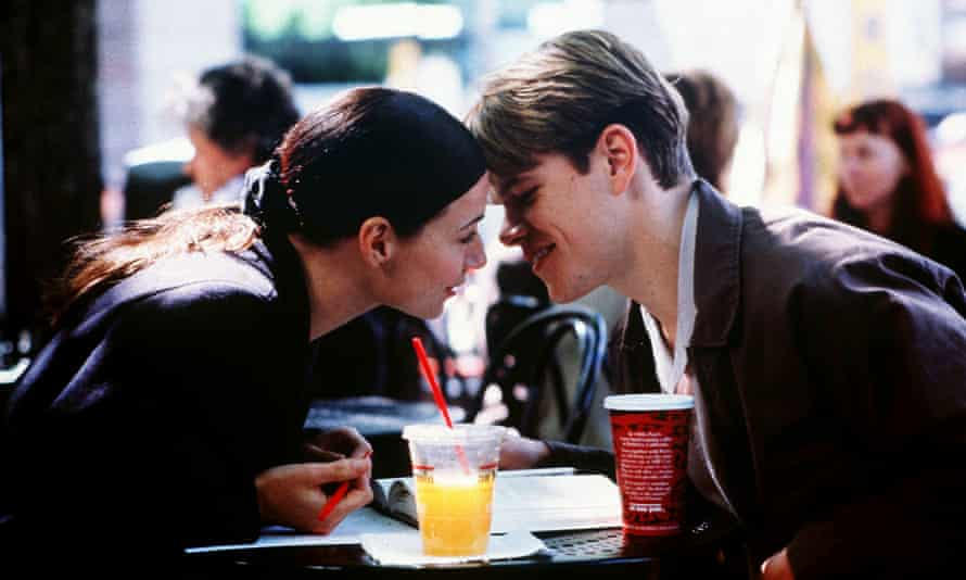 Minnie Driver in Good Will Hunting with Matt Damon in 1997.