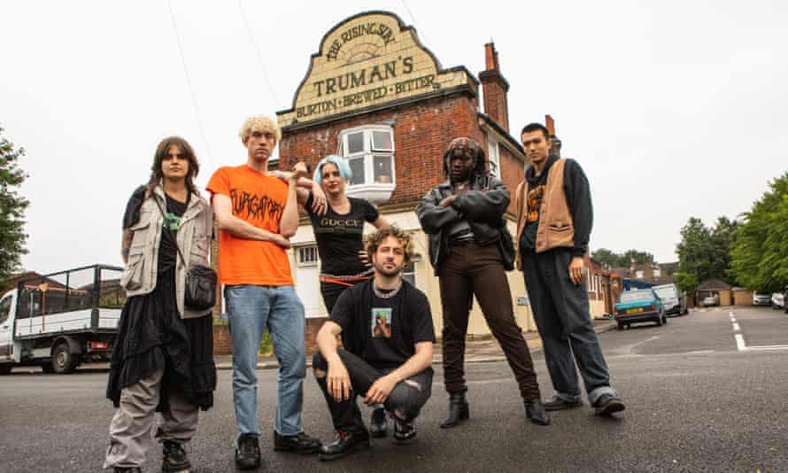 Six of the musicians and artists who, as a co-operative, hope to make The Rising Sun pub their permanent home.