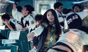 An So-hee as a cheerleader caught up in the mayhem in Train to Busan.
