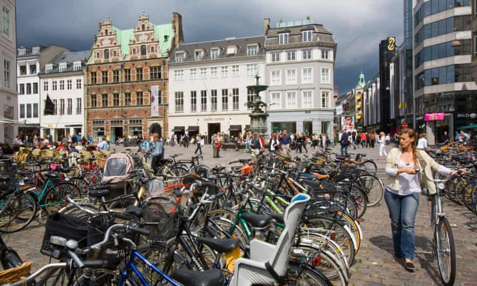 Bikes in Copenhagen.