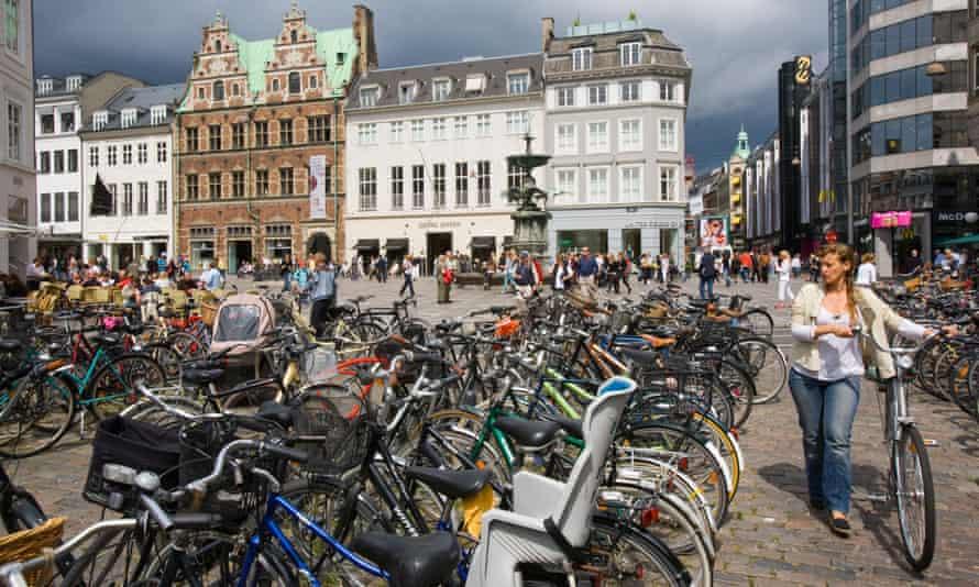 Bikes in Copenhagen, Denmark.