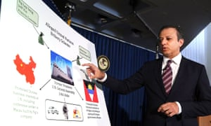 Preet Bharara, US attorney for the southern district of New York, announces the charges in connection with alleged bribery at the United Nations.