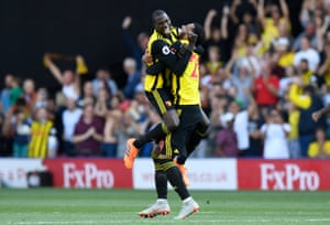 Abdoulaye Doucouré, left, is Watford's linchpin.